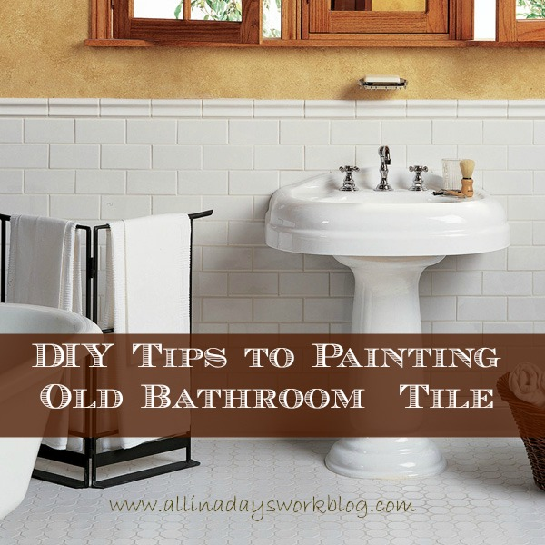 how to paint over bathroom wall tiles diy tips to painting bathroom tile 26172