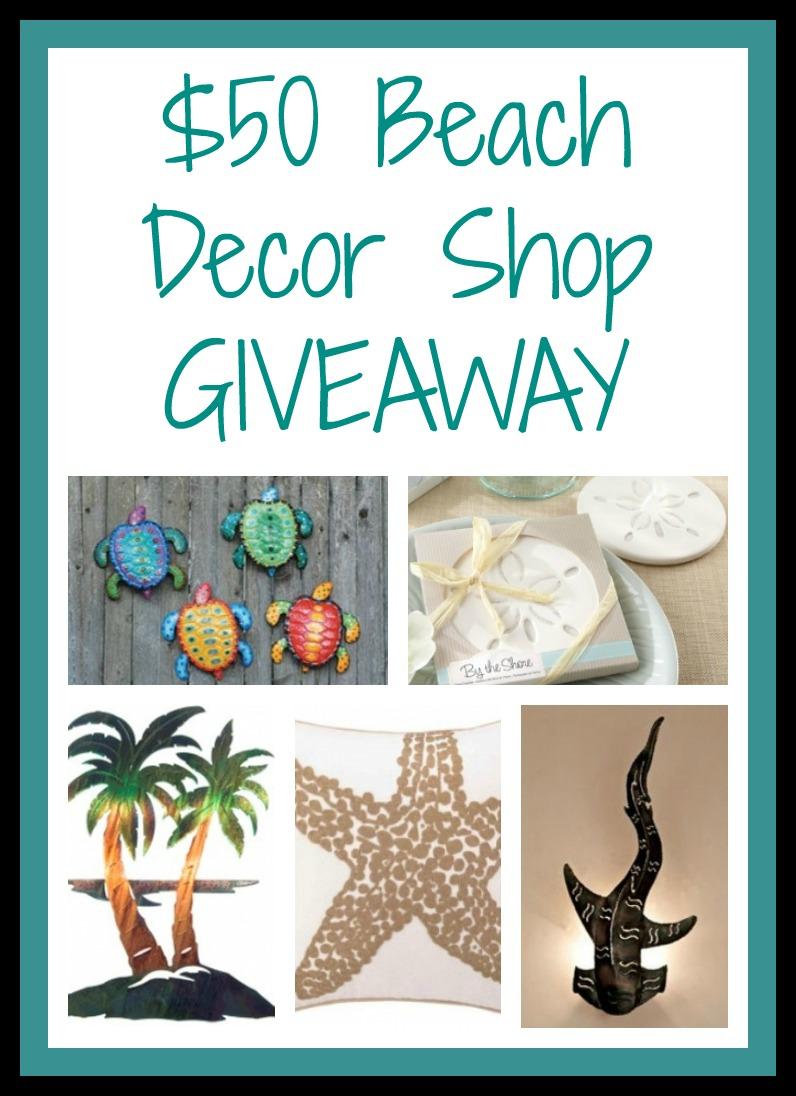 50 Beach Decor Shop Gift Card Giveaway