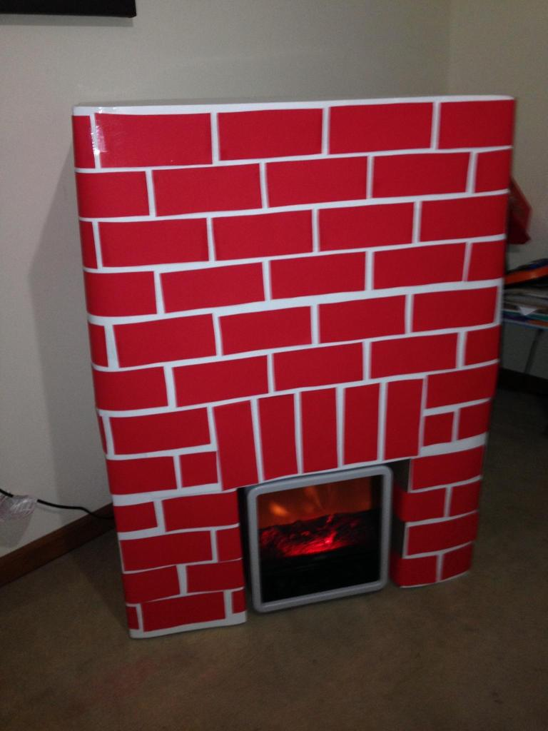 Diy Faux Fireplace For Christmas