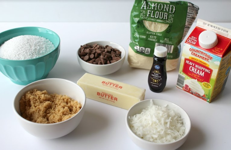 Keto Samoa Cookie Bar Ingredients